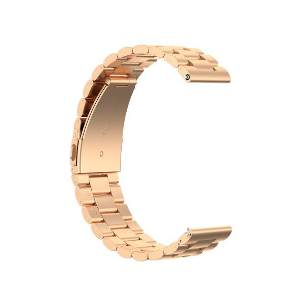 123Watches Garmin Vivoactive / Vivomove drie stalen schakel beads band - rose goud