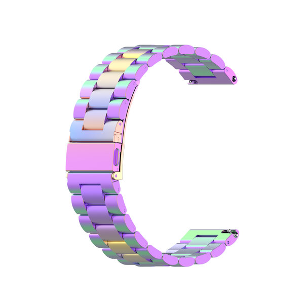 123Watches Garmin Vivoactive / Vivomove drie stalen schakel beads band - kleurrijk