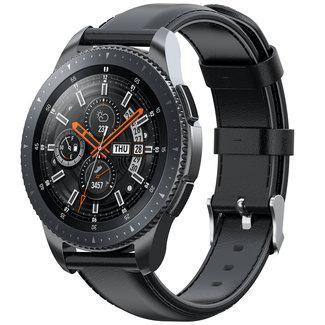 Merk 123watches Garmin Vivoactive / Vivomove leren band - zwart