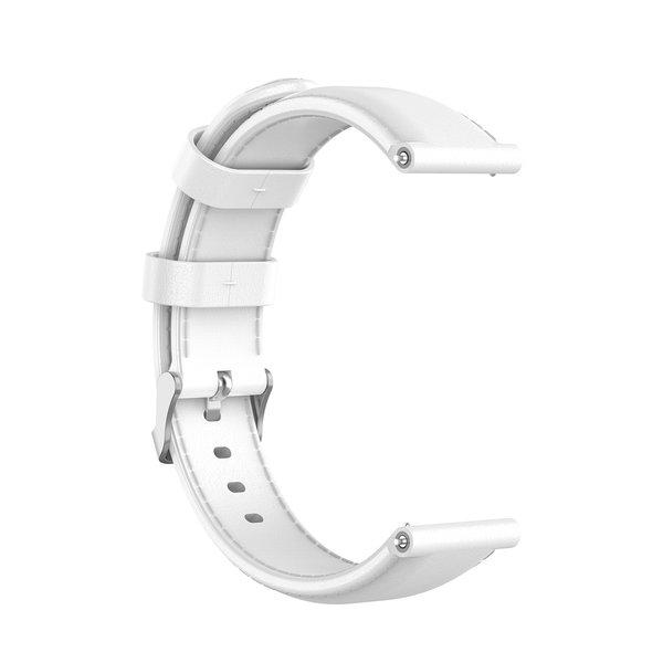 123Watches Garmin Vivoactive / Vivomove leather band - white