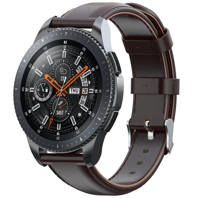 Merk 123watches Garmin Vivoactive / Vivomove leren band - donker bruin