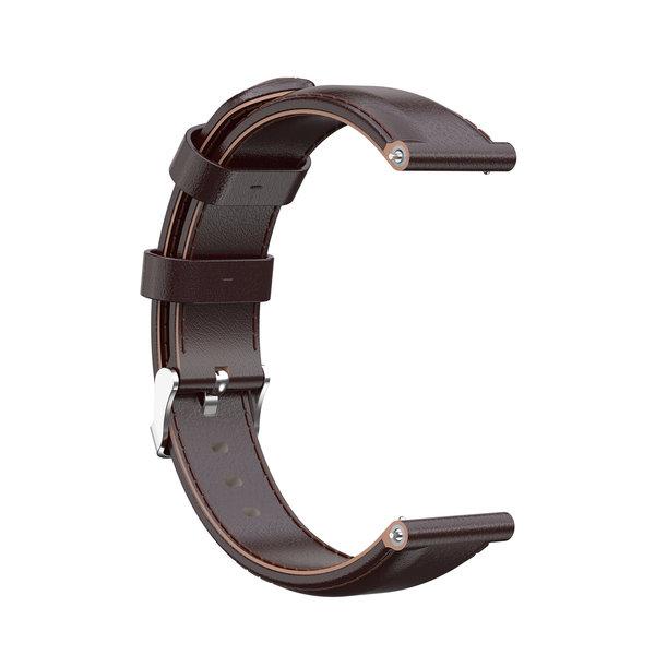 123Watches Bracelet apprendre Garmin Vivoactive / Vivomove - marron foncé