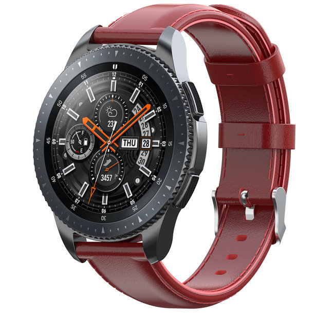 Merk 123watches Garmin Vivoactive / Vivomove leren band - rood