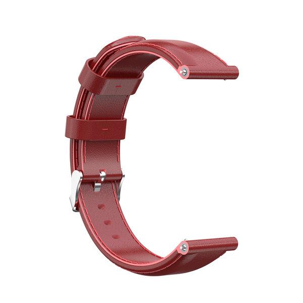 123Watches Garmin Vivoactive / Vivomove leather band - red