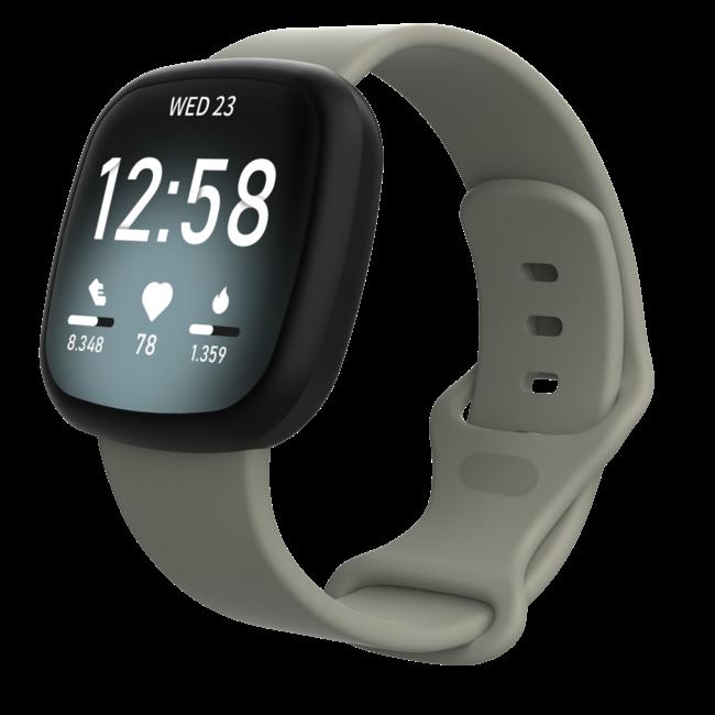 Merk 123watches Fitbit Versa 3 / Sense sport band - grijs