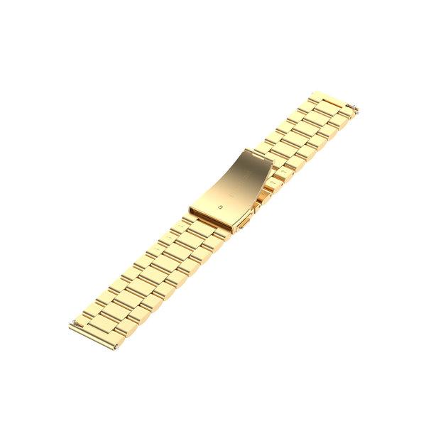 123Watches Samsung Galaxy Watch drie stalen schakel beads band - goud