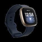 123Watches Fitbit Versa 3 / Sense sport band - navy blue