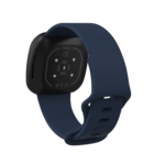 123Watches Fitbit Versa 3 / Sense sport band - marineblauw