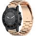 Merk 123watches Samsung Galaxy Watch drie stalen schakel beads band - rose goud