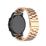 123Watches Samsung Galaxy Watch drie stalen schakel beads band - rose goud
