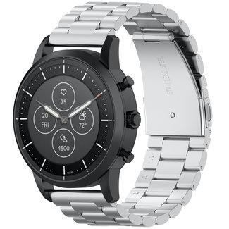 Merk 123watches Samsung Galaxy Watch drie stalen schakel band - zilver