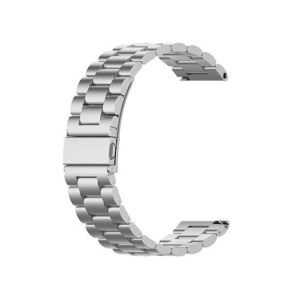 123Watches Samsung Galaxy Watch drie stalen schakel beads band - zilver