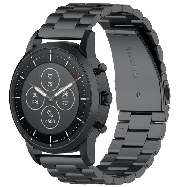 Samsung Galaxy Watch drie stalen schakel beads band - zwart