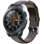 123Watches Samsung Galaxy Watch leren band - donker bruin