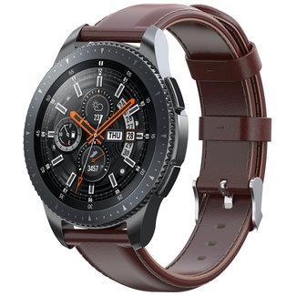 Merk 123watches Samsung Galaxy Watch leather band - light brown