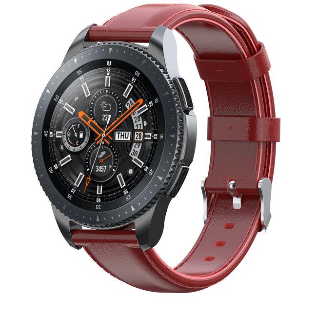 Merk 123watches Samsung Galaxy Watch leren band - rood