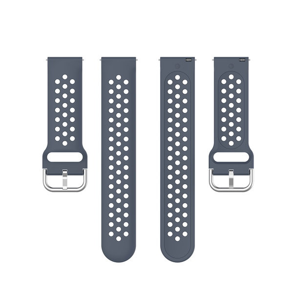 123Watches Samsung Galaxy Watch silicone dubbel gesp band - grijs