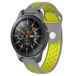 123Watches Samsung Galaxy Watch Silicone double strap - gray yellow