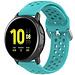 Merk 123watches Samsung Galaxy Watch silicone dubbel gesp band - groenblauw