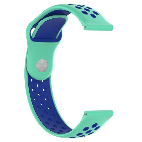 123Watches Samsung Galaxy Watch silicone dubbel band - groenblauw blauw