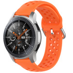 123Watches Samsung Galaxy Watch silicone dubbel gesp band - oranje