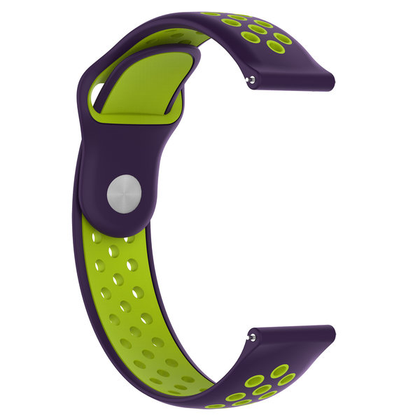 123Watches Samsung Galaxy Watch silicone dubbel band - paars groen