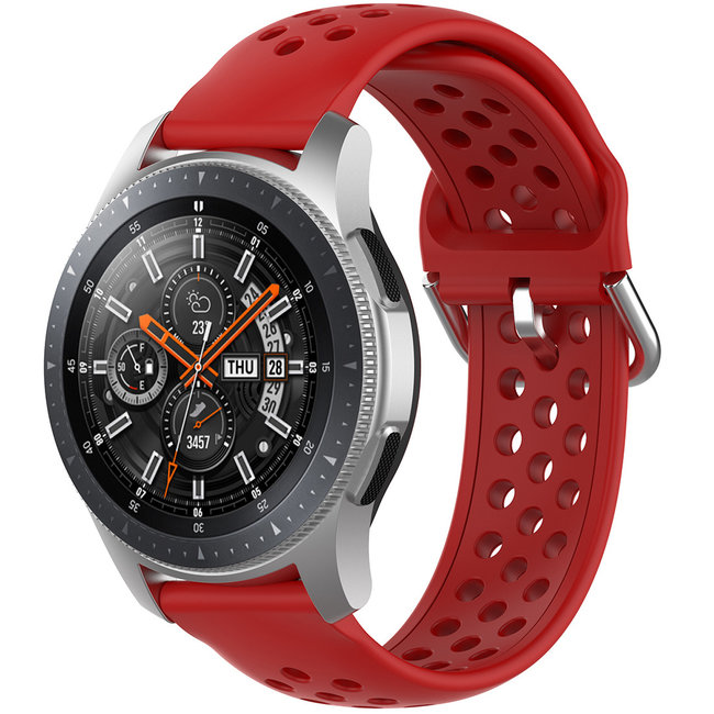 Samsung Galaxy Watch Silicone double buckle strap - red