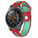 123Watches Samsung Galaxy Watch double bande en silicone - sarcelle rouge