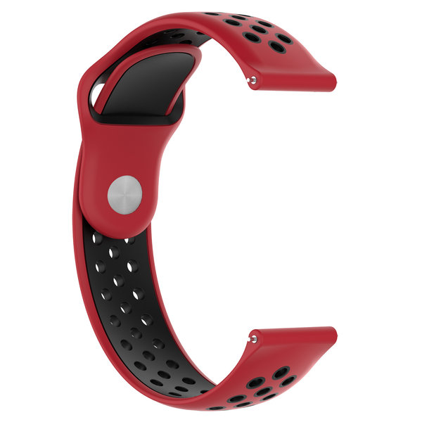 123Watches Samsung Galaxy Watch double bande en silicone - rouge noir