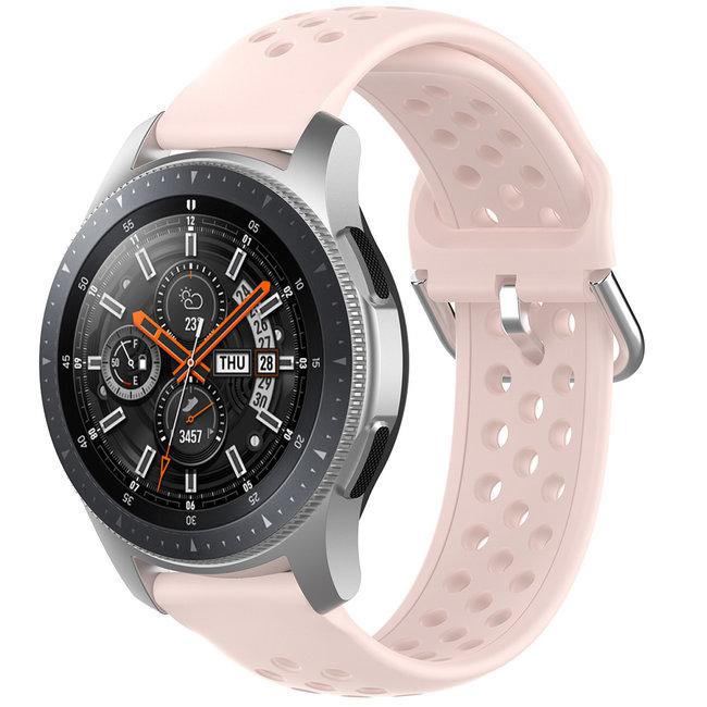 Merk 123watches Samsung Galaxy Watch silicone dubbel gesp band - roze