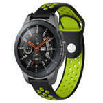 123Watches Samsung Galaxy Watch Silicone double strap - black green