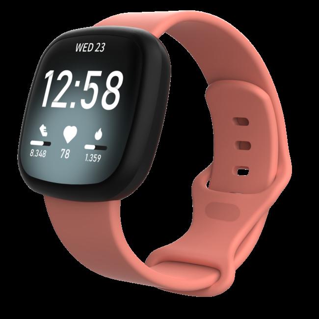 Merk 123watches Fitbit Versa 3 / Sense sport band - roze