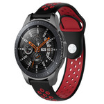 123Watches Samsung Galaxy Watch Silicone double strap - black red