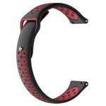 123Watches Samsung Galaxy Watch silicone dubbel band - zwart rood