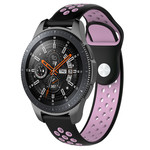 123Watches Samsung Galaxy Watch Silicone double strap - black pink