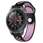123Watches Samsung Galaxy Watch silicone dubbel band - zwart roze