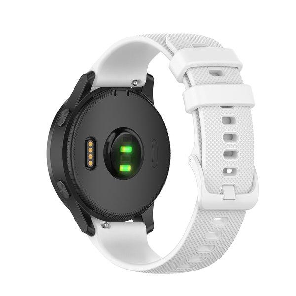 123Watches Samsung Galaxy Watch silicone belt buckle band - white