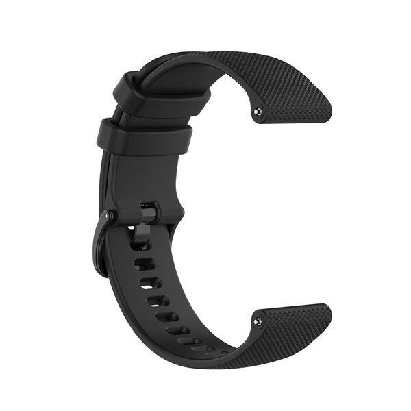 123Watches Samsung Galaxy Watch silicone belt buckle band - black