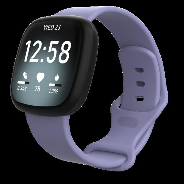123Watches Fitbit Versa 3 / Sense sport band - paars