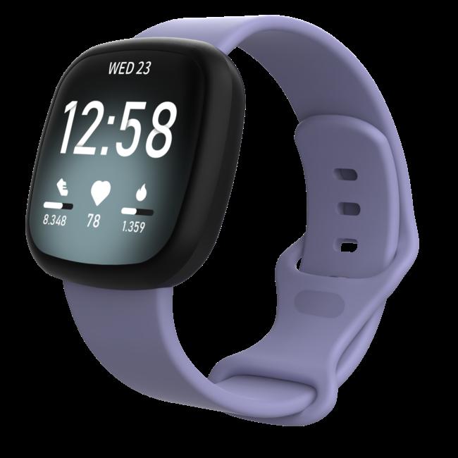 Merk 123watches Fitbit Versa 3 / Sense sport band - paars