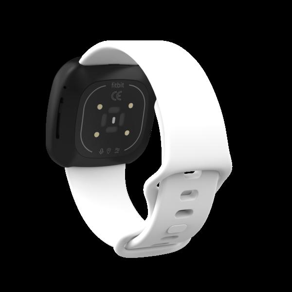 123Watches Fitbit Versa 3 / Sense sport band - white