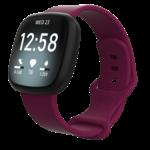 123Watches Fitbit Versa 3 / Sense sport sangle - vin rouge