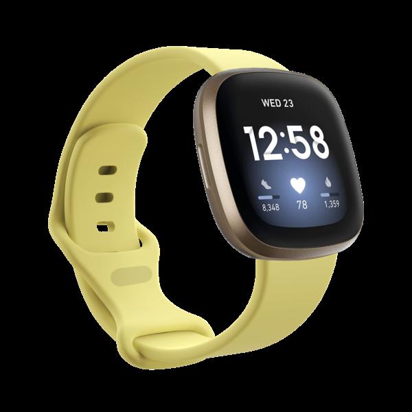 123Watches Fitbit Versa 3 / Sense sport band - geel