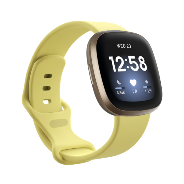 123Watches Fitbit Versa 3 / Sense sport band - yellow