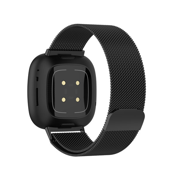 123Watches Fitbit Versa 3 / Sense milanese band - black