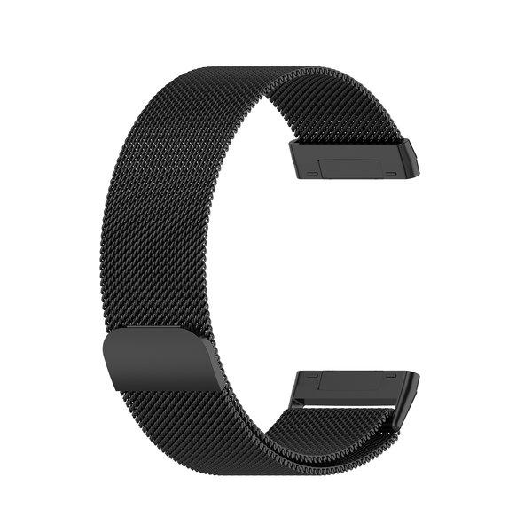 123Watches Fitbit Versa 3 / Sense milanese band - zwart