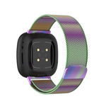123Watches Fitbit Versa 3 / Sense milanese band - colorful