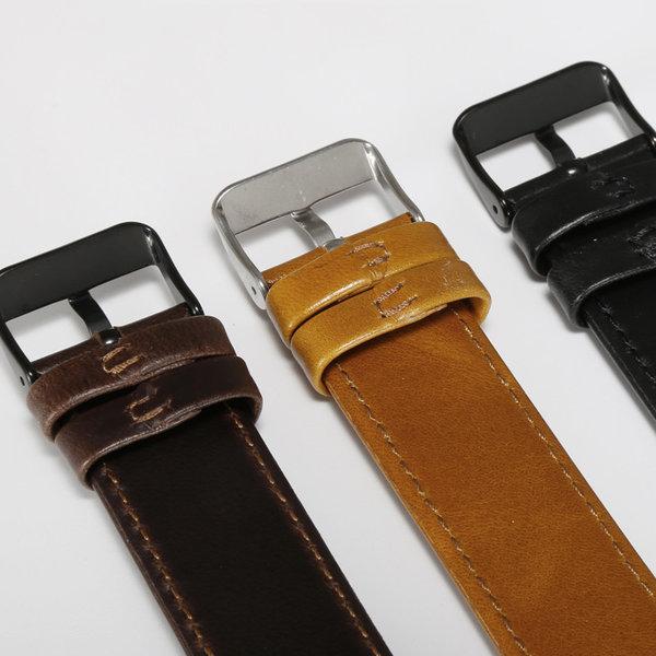 123Watches Fitbit Versa 3 / Sense bracelet en cuir véritable  - marron clair