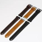 123Watches Fitbit Versa 3 / Sense genuine leather band - black