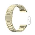 123Watches Fitbit Versa 3 / Sense kralen stalen schakel band - champagne